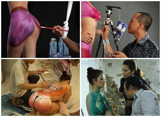 Cung cấp nhân tượng, body painting